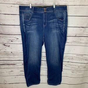Lane Bryant t3 slimming crop jeans